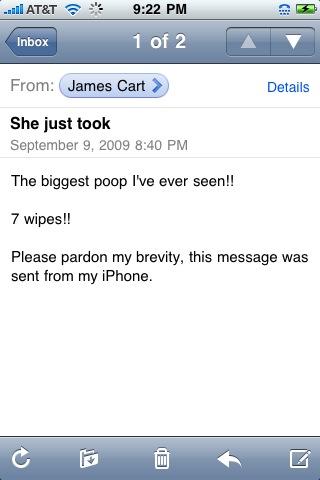 poop email