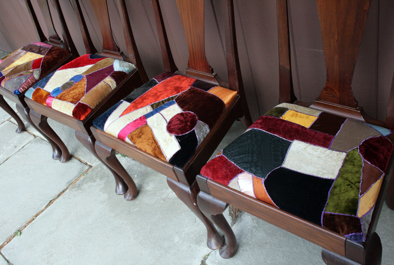 Crazy Quilt Dining Room Chairs By Ashley Weeks Cart Reupholstering