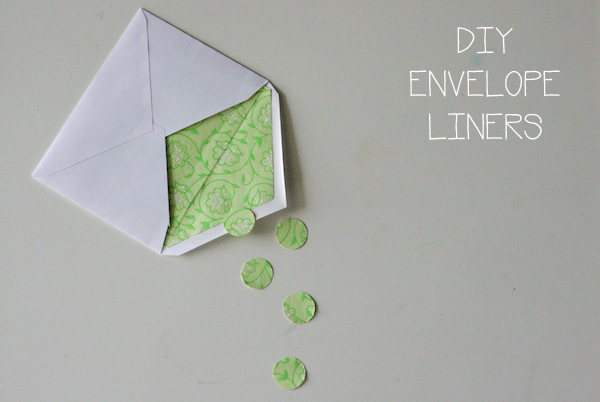 DIY Envelope Liner — Crafthubs