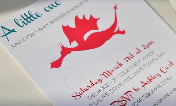Dragon Baby Shower Invite Blog a la Cart